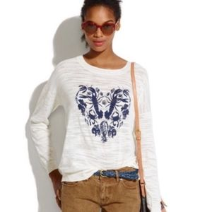 Madewell navy blue lobster heart sweater